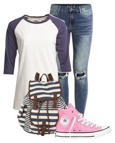 """""""outfit"""" by mkomorowski ❤ liked on Polyvore featuring VILA, Camp Collection and Converse"""