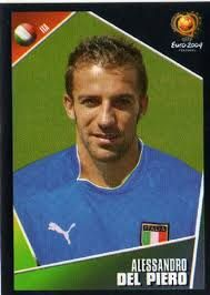 Alessandro Del Piero of Italy. Football Stickers, European Championships, Fifa, World Cup, Old School, Japan, Baseball Cards, Portugal, Football Squads