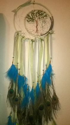 Peridot Tree of Life to the Crescent Moon Dream Catcher