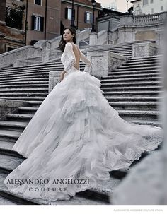 Bianca Balti Stuns in Wedding Gowns for Alessandro Angelozzi Couture 2015 Bridal Shoot