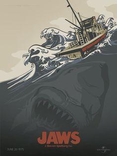 Jaws -The Revenge Class Movie Steven Spielberg Art Silk Poster Horror Movie Posters, Jaws Movie Poster, Best Movie Posters, Cool Posters, Horror Movies, Jaws Film, Jaws 3, Cinema Tv, Films Cinema