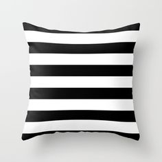 Buy Stripe Black & White Horizontal by Beautiful Homes as a high quality Throw Pillow. Worldwide shipping available at Society6.com. Just one of millions of products available.