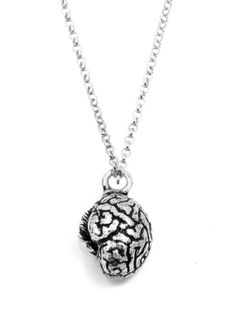 """""""Anatomical Brain"""" Necklace by Blue Bayer Design (Silver)"""