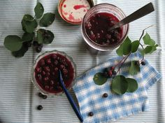 Canned Saskatoon Berries and Preserves |