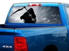 GRIM REAPER SKULLS Rear Window Graphic Rear Decal Tint Sticker - Rear window hunting decals for trucksamazoncom truck suv whitetail deer hunting rear window graphic
