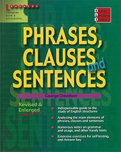 English Language Toolbox: Phrases, Clauses And Sentences - Five Senses Education