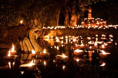 Makha Bucha night in Chiang Mai ~ Thailand by Canvas of Light Photography www.canvas-of-light.com
