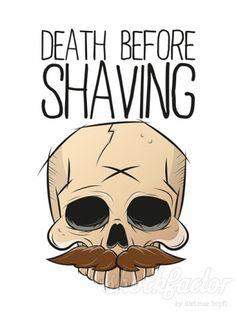 Death before shaving by Dietmar Höpfl shockfactor.de #beard #mustache #skull