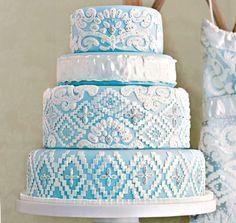 blue wedding cakes martha stewart | Hot Wedding Cakes