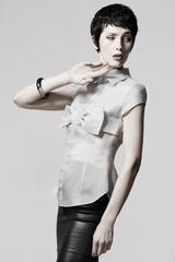 Bow shirt sewing pattern - ralph pink