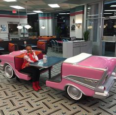 nia in a pink cadillac