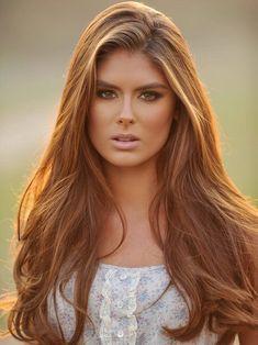 Lange braune Frisuren für Frauen - Trend Frisuren Stil