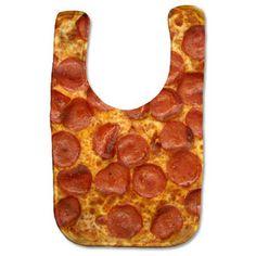 Psychobaby Eat 'em Up Pizza Bib