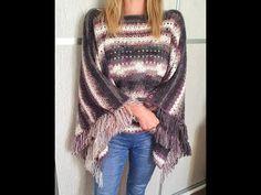 Háčkované návody, Dana Mjartanová - YouTube Purple, Blouse, Youtube, Tops, Women, Fashion, Ponchos, Moda, Fashion Styles