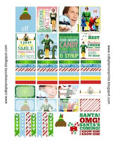Please comment below if you are using! The more comments and downloads the more free printables I create!     *ELF*       Made to fit the E...