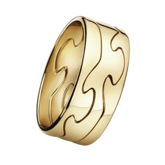 Georg Jensen triple layer 18ct yellow gold FUSION ring
