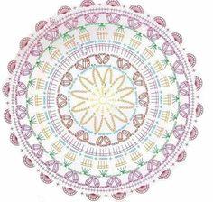 52 Ideas Crochet Mandala Diagram Charts For 2019 Knitting PatternsCrochet For BeginnersCrochet PatronesCrochet Bag Motif Mandala Crochet, Free Crochet Doily Patterns, Crochet Diagram, Crochet Chart, Stitch Patterns, Knitting Patterns, Crochet Dollies, Crochet Wool, Crochet Pillow
