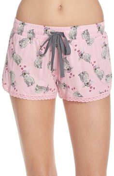 Cozy Zoe Printed Jersey Sleep Shorts available at #Nordstrom