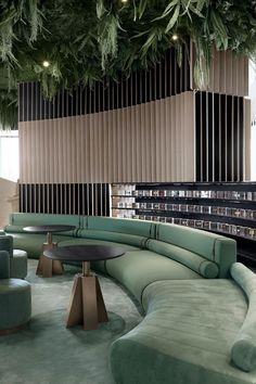 Architecture Awards, Interior Architecture, Interior Design, Restaurant Design, Cafe Restaurant, Round Couch, Lobby Lounge, Lobby Design, Banquette Seating