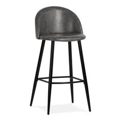 Cult Living Idris Bar Stool with Backrest, Faux Leather Upholstered, Vintage Tan Vintage Bar Stools, Modern Bar Stools, Home Decor Kitchen, Kitchen Furniture, Kitchen Ideas, Kitchen Design, White Dining Room Chairs, Bar Chairs, Office Chairs