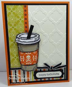 "Pumpkin Pie, Very Vanilla, Basic Black, Witches Brew Designer Series Paper Stamp Set: Perfect Blend, Teeny Tiny Wishes Accessories: Word Window Punch, Modern Label Punch, 1/8"" Basic Black Grosgrain"