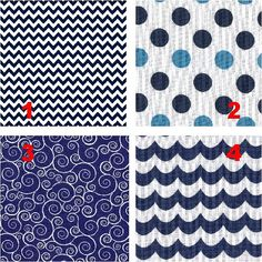IN THE NAVY  Lamp Shade Fabric Collection  by VanityShadesofVegas