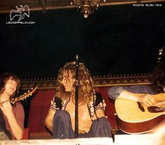John Paul Jones and Robert Plant, and a half invisible Jimmy Page!