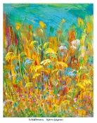 """""""Wildflowers"""" : Art by Björn : Björn Sjogren : Colorful Scandinavian paintings : www.artbybjorn.com"""
