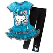 Hello Kitty Heart Tutu Tunic and Leggings Set - Girls 4-7 #Kohls