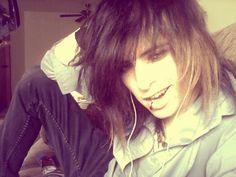 scene boy - long hair man