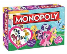 Brinquedo My Little Pony Monopoly Board Game #Brinquedo #USAopoly