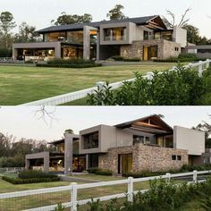 149 most popular modern dream house exterior design ideas -page 5 Layouts Casa, House Layouts, Luxury Modern Homes, Luxury Homes Dream Houses, Design Exterior, Modern Exterior, Modern Villa Design, Modern Contemporary House, House Front Design
