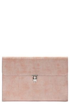 ALEXANDER MCQUEEN Metallic Leather Envelope Clutch. #alexandermcqueen #bags #leather #clutch #metallic #hand bags