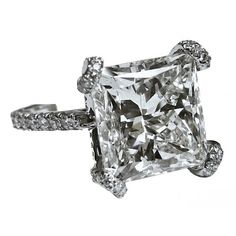 1930 Princess Cut Diamond Ring.  See more wedding tips at www.weddingsonline.in