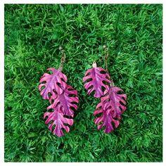 """Mais um brinco exclusivo da """"Coleção Flora Brasileira"""" inspirada nas incríveis ilustrações botânicas da inglesa Margareth Mee e desenvolvida pela grife Camaleoa. #biodesign #brazilnature #biojoias #modaverde #acessórios #biojewel #ecofashion #ecomoda #ecojoia #modasustentável #brazilianjewelry #igaramodaarte #margaretmee #florabrasileira"""