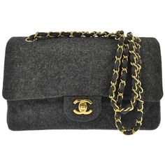 5cfbfbfb03fa Pre-owned Chanel Cc Logos Double Flap Chain Wool Vintage Shoulder Bag  ($1,960)