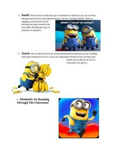 Includes a 2 page doc that highlights how students need to use your 5 senses while engaging in a science experiment. Minion themed of course!Used in my grade 5 class and worked perfectly.