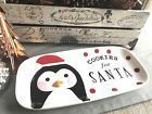 New Magenta (Maker of Rae Dunn) Penguin Cookies for Santa Platter - So Cute!