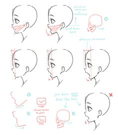Manga Drawing Tips deel@にゃ ( Drawing Reference Poses, Anatomy Reference, Drawing Skills, Drawing Tips, Drawing Sketches, Art Drawings, Drawing Techniques, Drawing Heads, Drawing Base