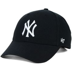 New York Yankees '47 MLB '47 MVP Cap ❤ liked on Polyvore featuring accessories, hats, embroidered caps, mlb caps, new york yankees cap, yankees cap and cap hats