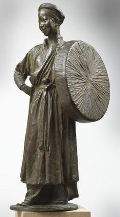 Théodore Louis Auguste RIVIERE, (Toulouse, 1857 - Paris, 1912), Femme tonkinoise au chapeau, vers 1903, Inv. 2001 2 1. Non exposée. © Musée des Augustins, Toulouse, photographie Daniel MARTIN