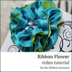 Danielle Daws: Ribbon Flower Tutorial