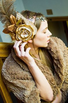 Feather n flower headdress