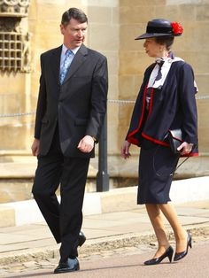 Princess Anne married her second husband Commander Timothy Lawrence in December 1992.