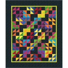 Hand Dyed Batik quilt kits made from Timeless Treasures Tonga Batiks.