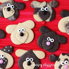 Create an amazing variety of dog shaped cookies by using 1 cookie dough and 3 heart shaped cookie cutters. These Puppy Love Cookies will make the cutest treats for Valentine's Day.