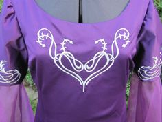 Costume, Adult, Ren Fair, Elvish, LOTR, Faerie Bridesmaid Dress with Embroidered Bodice- RESERVED. $130.00, via Etsy.