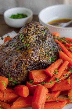 Easy Fall-Apart Pot Roast with Carrots (Slow Cooker) from The Food Charlatan. Super tender, juicy, fall-apart pot roast is not as hard as you think! This slow cooker recipe uses a few simple ingredients (one of them is patience...) to make the most flavorful (yet stupid easy) pot roast ever! Carrots add the perfect touch! Everyone loves a classic. #classic #comfort #comfortfood #roast #roastbeef #potroast #beef #carrots #slowcooker #crockpot #mississippi #chuck #recipe #dinner #holidays #... Rib Roast Slow Cooker, Carrots Slow Cooker, Rib Roast Recipe, Roast Beef Recipes, Meat Recipes, Fall Crockpot Recipes, Slow Cooker Recipes, Cross Rib Roast, Easy Pot Roast