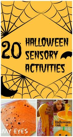 A fun collection of unique Halloween themed sensory play ideas. #halloweenactivities #sensoryactivities