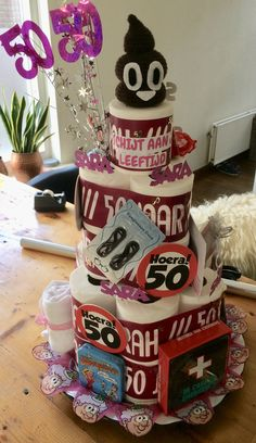 Corporate Gift Baskets, Corporate Gifts, Abraham And Sarah, Diy Presents, 50th Birthday Party, Sweet 16, Daisy, Birthdays, Gift Wrapping